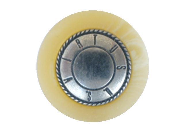 Blond Horn Edge Metal button (00174)