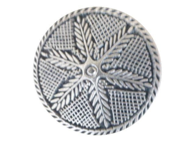 Silver Feathers Large button (00095)