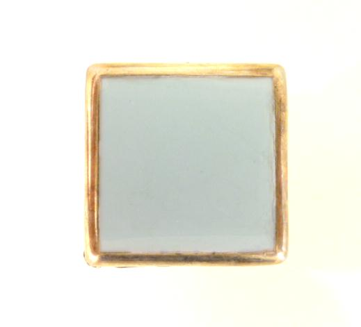 Enamel Brass Square button (no.00296)