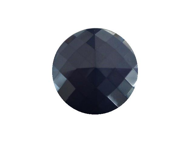 Indigo Blue Square Facet button (no.00422)