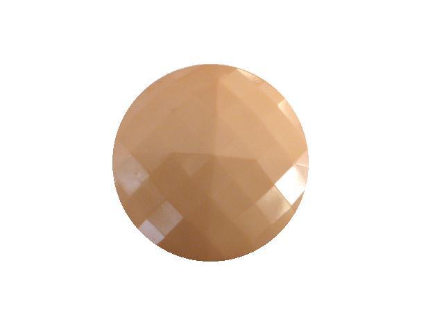 Pale Salmon Pink Square Facet button (no.00416)