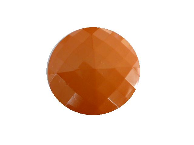 Tangerine Square Facet button (no.00417)