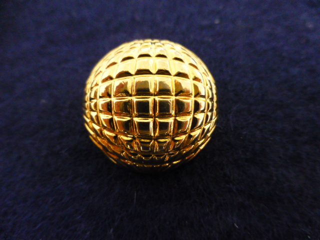 7 x Heavy Gilt Metal Globe Dome Blazer Buttons Set