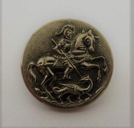 Set of 6 St. George and the Dragon Waistcoat buttons