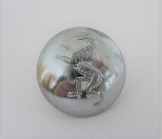 Set of 8 Lion Livery Domed Chrome buttons by Gaunt, London