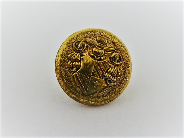 Set of 7 Small Heraldic Crest Brass buttons