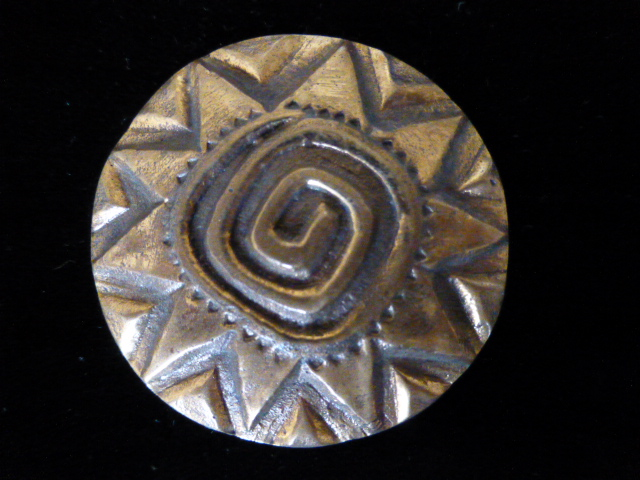 Brass Extra Large Decorative Button
