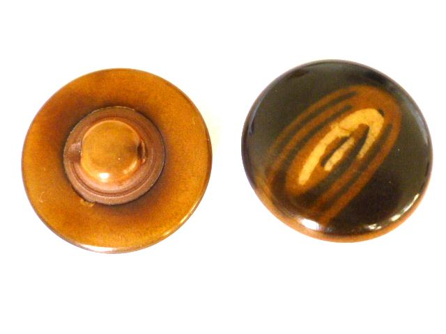 2 Vegetable Ivory Domed buttons