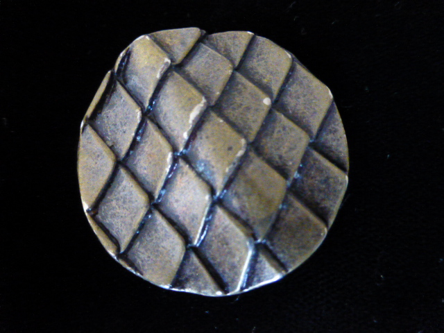 Reptile-style Large Metal Button