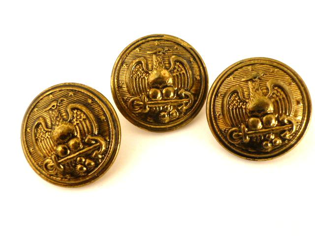 Set of 3 Repro. US Navy Pea Coat buttons