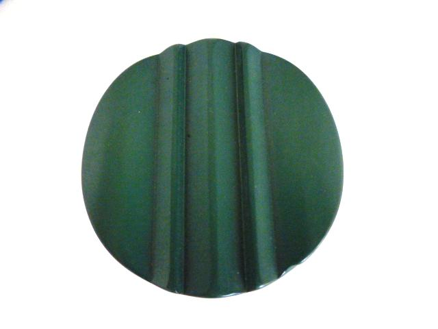 Green Extra Large Ridged button (no.00966)