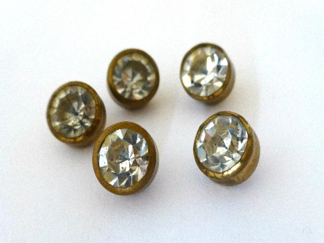Set of White Diamond Paste Cup Waistcoat buttons