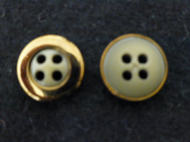 Bronzed Cased Green Small button (no.00943)