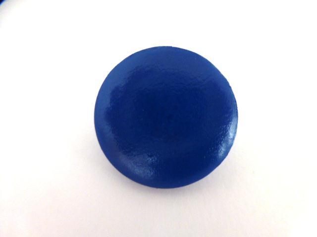 Blue Faux Leather button (no.01009)