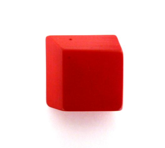 Red Canted Corner button (no.00932)