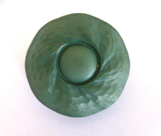 Sage Green Large Relief Dome button (no.01065)