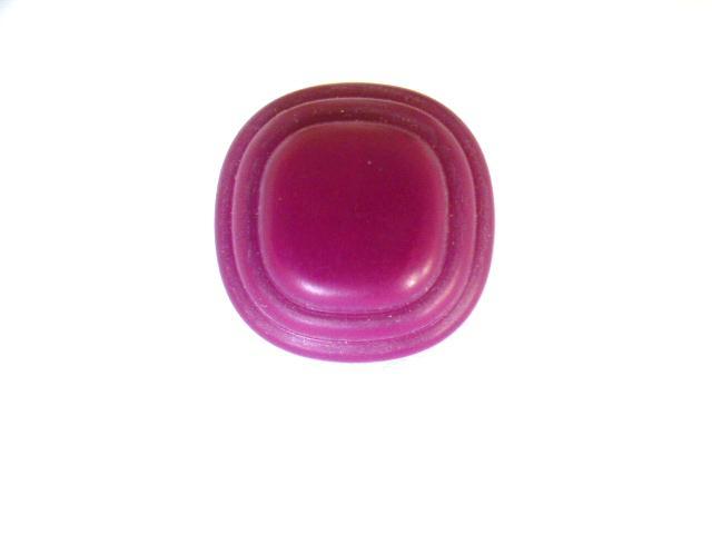Cerise Stepped Dome button (no.00936)