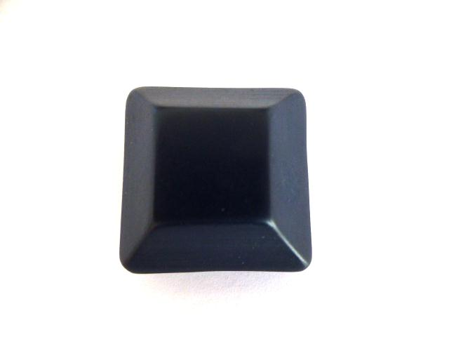 Dark Blue Chunky Canted Square button (no.0976)