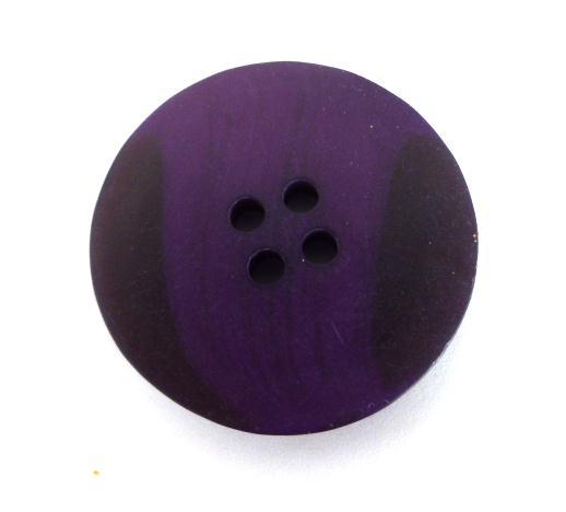 Purple Black Two Tone button (no.01064)
