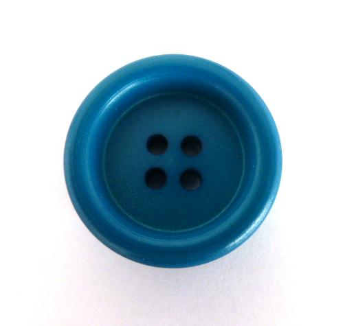Teal Blue 4 Hole button (no.00964)