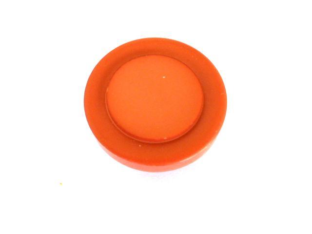 Dark Coral Round button (no.00820)