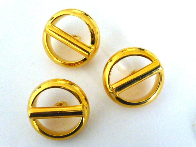 Set of 3 Gold High Quality Stylish buttons