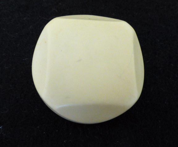 Ivory Chunky Cut Dome button (no.00935)