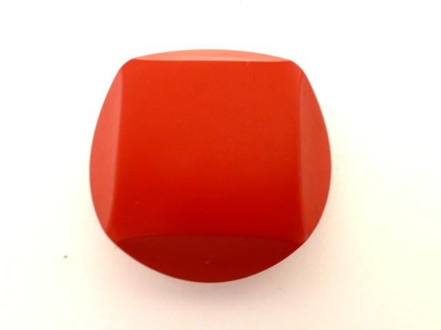 Shocking Pink Chunky Cut Style button (no.00834)