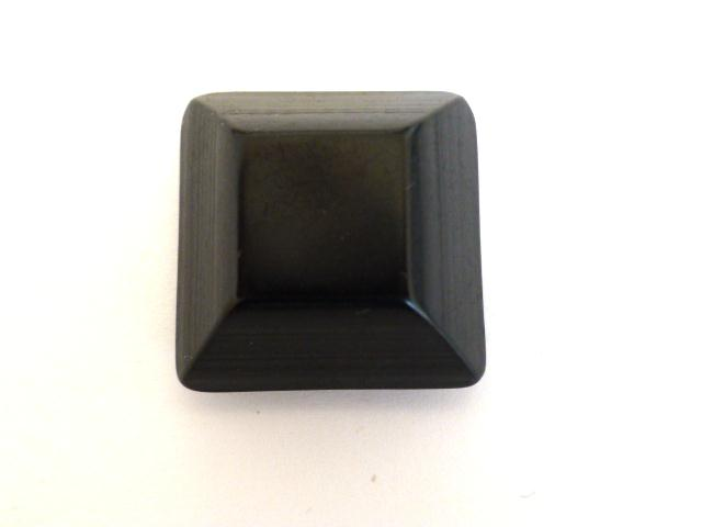 Black Chunky Canted Square button (no.00931)