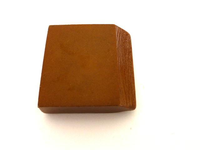 Caramel Canted Edge Square button (no.0947)