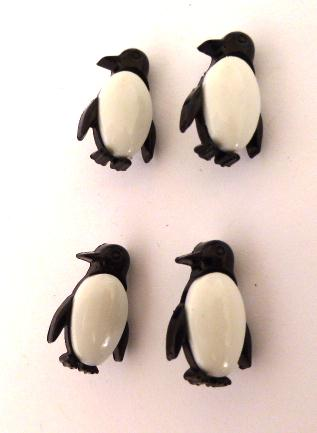 Set of 4 Penguin buttons