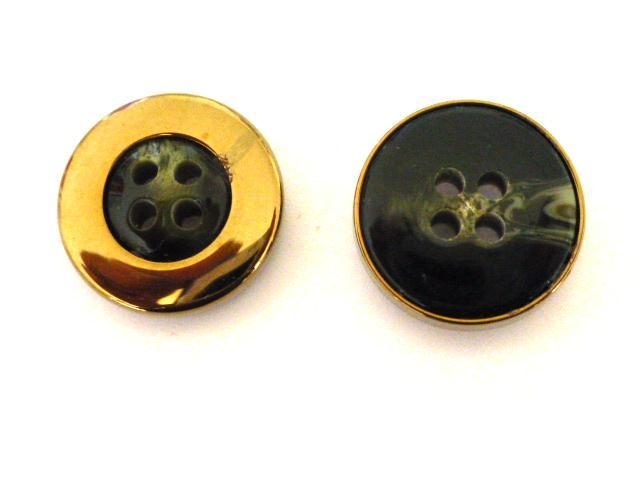 Serpentine Bronze Cased button (no. 01080)