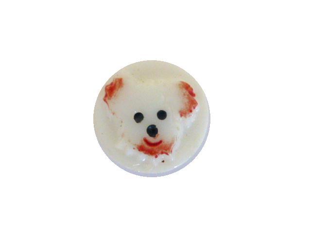 Dog Face Glass button