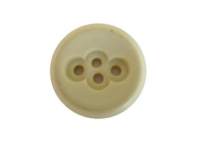 Cream Crazy 4 Hole button