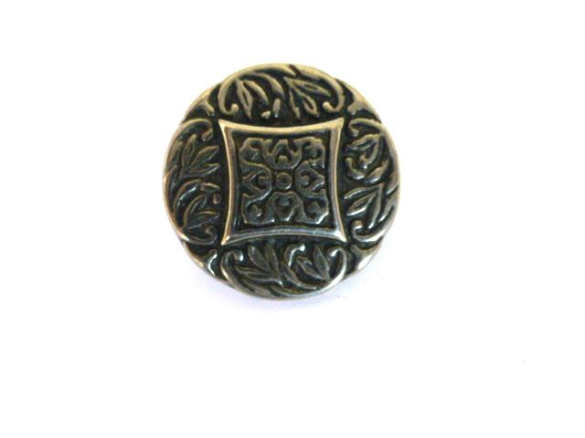 Set of 5 Silver Metal Engraved buttons