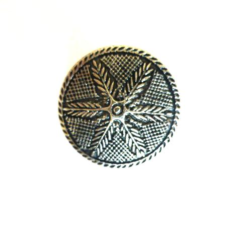 Silver Feather button (no. 00354)