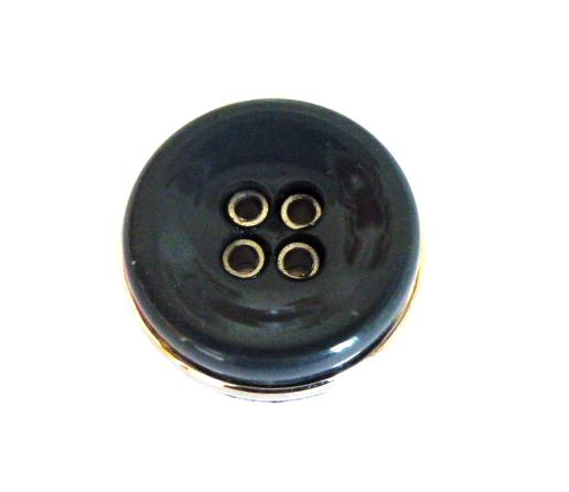 Petrol Silver Banded 4 Hole button (no.01100)