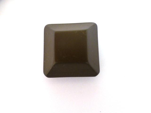 Brown Chunky Canted Square button (no. 01026)