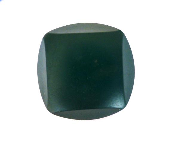 Bottle Green Chunky Cut Style button (no. 01022)