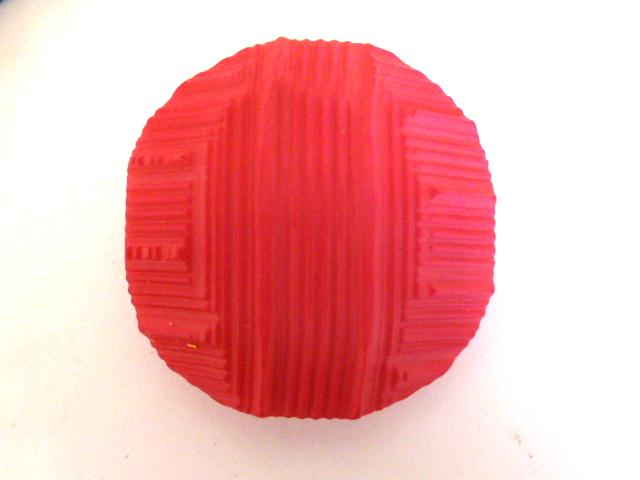 Set of 5 Extra Large Cerise Pink Textured buttons