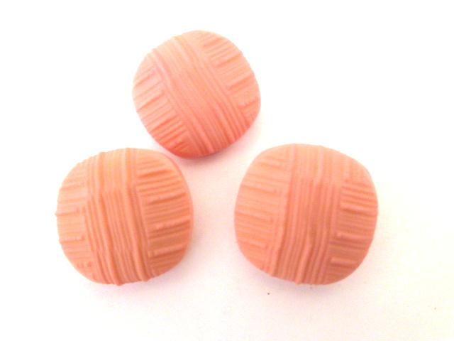 Set of 3 Pink Textured Rounded Square buttons