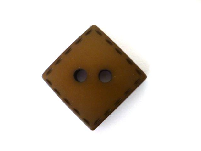 Brown Tan Stitched Square button (no.00973)