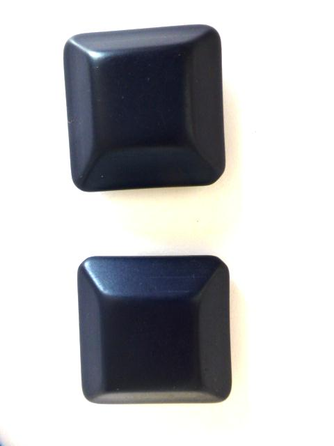 Navy Blue Pair of Extra Large Chunky Square buttons