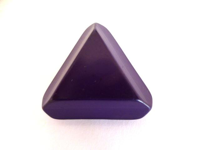 Royal Purple Extra Large Chunky Triangle button (no.01123)