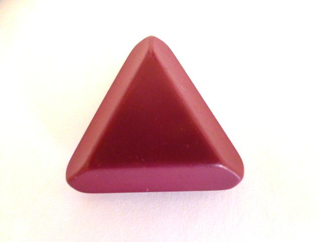 Dark Cerise Pink Chunky Triangle button (no.01129)