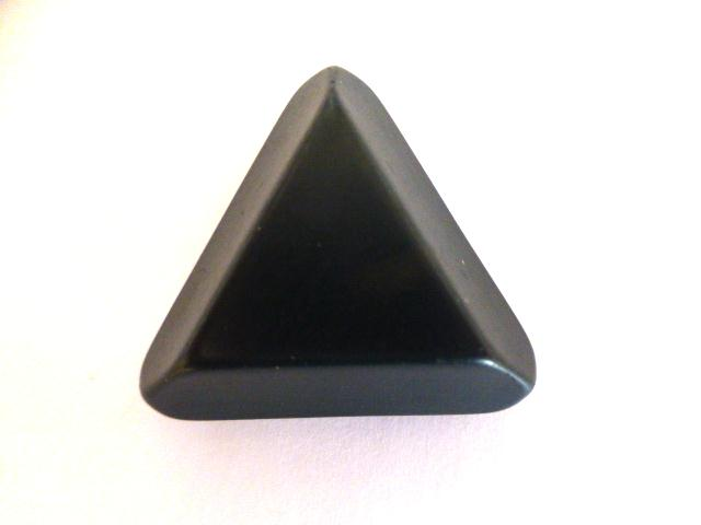 Dark Teal Extra Large Chunky Triangle button (no.01119)