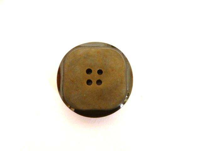 Brown Greyish Square Face Round button (no.00535)