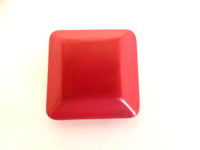 Cerise Pink Chunky Square button (no.01109)