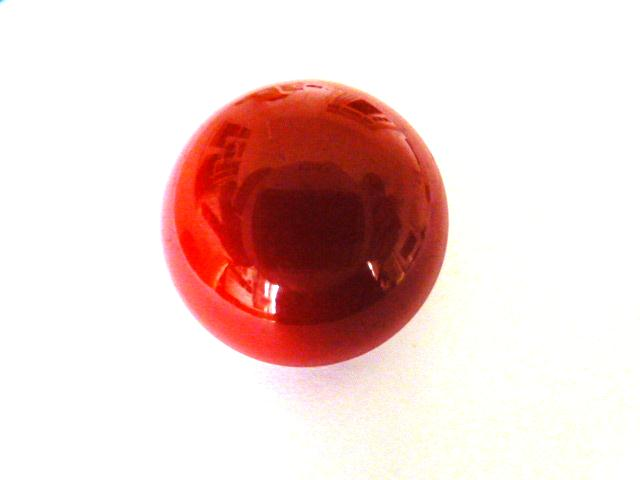 Bakelite Red Dome button (no.01148)