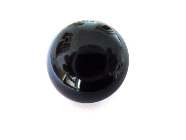 Bakelite Black Dome button (no.01149)
